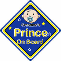 Crown Prince Kenzo On Board Personalised Boy Car Sign Child Gift