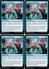4x RETREAT TO CORALHELM Battle for Zendikar MTG Enchantment Unc