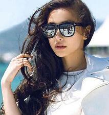 Mohawk Ladies Oversize Designer Sunglasses Black & Silver Mirror Lens UV400 Y50