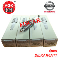 NGK set of 4 Spark Plugs Laser Iridium  DILKAR6A-11 9029  22401-JA01B For Nissan