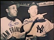 MICKEY MANTLE NY YANKEES & WILLIE MAYS S.F. GIANTS 8 X 10 REPRINT PHOTO