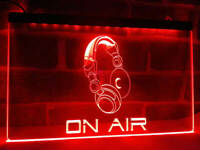 ON AIR Red Neon Sign Light Advertisement Man Cave Home Broadcasting Podcast Wall