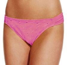 Purple Eyelet SMALL Hula Honey SIDE TAB HIPSTER Swimsuit BIKINI BOTTOM New!