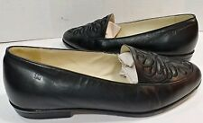 8cf4a047106 Etienne Aigner Loafers Flats Slip On Mule Shoes BLACK Leather Women s 5M