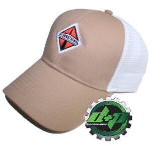 International trucks TAN w/ white mesh back hat ball cap truck diesel gear INT