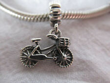 925 ANTIQUE SILVER UNBRANDED DANGLE TWO WHEEL BIKE BICYCLE EUROPEAN BEAD CHARM
