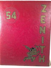 "1954 SIMPSON  COLLEGE YEARBOOK "" ZENITH ""  Indianola, Iowa Original w/no writing"