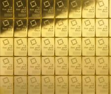 More details for 1 gram gold bar - 999.9 fine bullion - pure 24ct gold bar - valcambi swiss made