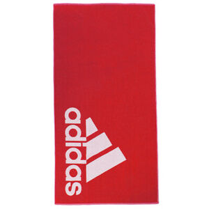 Adidas Large Cotton Towel Sports Training Gym Yoga Beach Swim Pool Red FJ4771