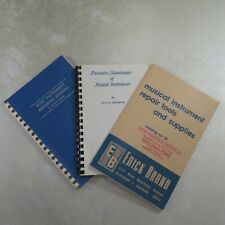 Lot of (3) Vintage Band Instrument Repair Books