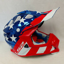 LS2 Subverter Offroad MX Helmet Krome Glory Red White Blue XLarge XL *SAMPLE*