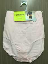 BNWT Womens Sz 20-22 Holeproof Pack of 2 Pink/White Full Style Stretch Briefs