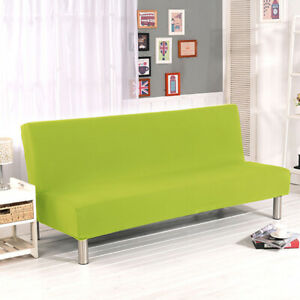 Armless Futon Covers Foldable Fitted Sofa Bed Slip Cover Removable Pet Protector