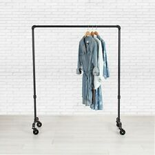 Clothes Rack | Rolling Clothing Rack | Garment Rack | Pipe Closet Organizer Rack