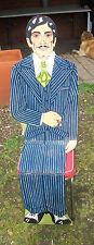 Vintage Folk Art Folding Flat Mannequin Style Dapper Gentleman