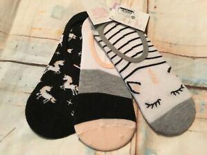 Xhilaration Women's Unicorn 3 Pack Liner Socks. One Size.