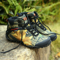 Outdoor Bionic Camouflage Shoes Real Tree Waterproof Hunting Anti-skid Boots