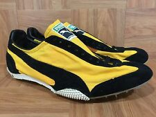 Vintage🔥 Puma EYE Made In West Germany Trainer Racer Black Gold 10.5 Yugoslavia