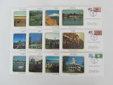 Us (31) different scenic covers w/dates of cancel matching event on cachet photo
