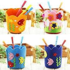 1pc Popular Penholder Diy Non-Woven Fabrics Material Child Crafts Set Tb