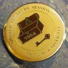 DePauw University pin badge 1984 Shared Treasure Session