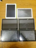 Lot of 6 Tablets/Tablet Computers Only Toshiba Samsung RCA FOR PARTS
