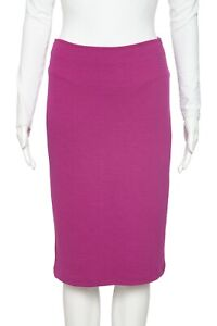 ARMANI COLLEZIONI Magenta Ribbed Pencil Skirt 2 Straight Knee Length XS Party 0