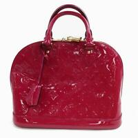 Authentic Louis Vuitton Hand Bag M91770 Alma PM Rose Vernis 359434
