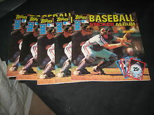 LOT (5) 1982 TOPPS STICKER ALBUM BOOKS COLLECTION ALMOST COMPLETE ALL STARS