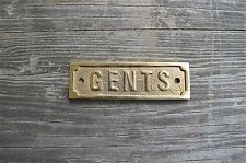 GOOD QUALITY ANTIQUE STYLE SOLID BRASS GENTS TOILET DOOR SIGN