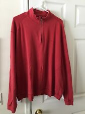 Tommy Bahama Mens Zip Pullover XXL Red Sweater Shirt Top G08