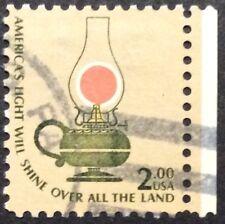 1978 $2 Kerosene Lamp Americana regular issue single, Scott #1611, Used, VF