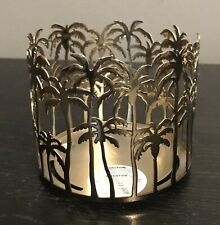 Bath And Body Works  Palm Tree Skyline 3-Wick Candle Holder