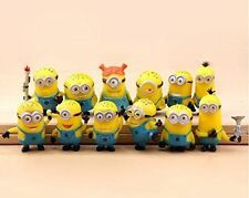 12pcs Cute Despicable Me 2 Minions Movie Character Figures Doll Toy Gift UKSELLE
