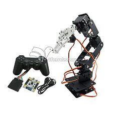 6 DOF Arm Mechanical Robotic Arm Clamp Claw Mount Kit & Servos & Controller