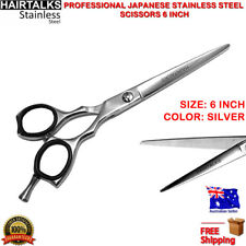 PRO HAIR CUTTING SCISSOR STAINLESS STEEL 6 INCH BARBER SALON STYLING RAZOR SHEAR