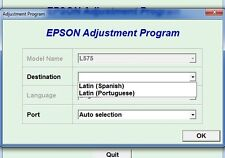 Reset Epson L575 Reset ink pads counter