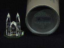 Swarovski Crystal Clear Church w/ Display Mirror - signed - Box