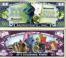 Monster's INC. - Disney Movie Character Million Dollar Novelty Money