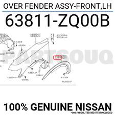63811ZQ00B Genuine Nissan OVER FENDER ASSY-FRONT,LH 63811-ZQ00B