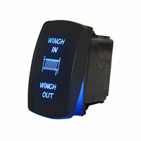 7 Pin Winch in/out Rocker Switch Blue Led Waterproof for Car Motorcycles Boat