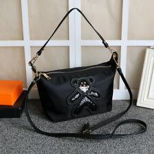 Nylon CrossBody Bag/Shoulder Bag With Logo Shinny Bear Medium