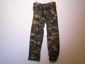 USGI US Military Improved Rain Suit Trousers Woodland Camo Pants 2005 Small 43-L