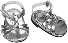 """DOLL SHOES - SILVER SANDALS - fits  AMERICAN GIRL DOLL AND MOST 18"""" DOLLS"""