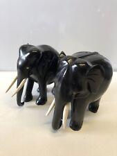 Two Ebony Elephants
