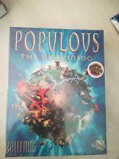 PC Populous the Beginning NEW No ps1 NES SNES Sega msx Neo Geo NEC
