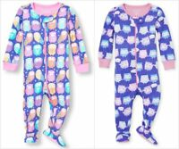 NWT The Childrens Place Owl Girls Stretchie Footed Sleeper Pajamas 2T 3T 4T 5T