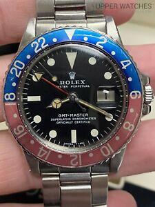 Rolex 1675 GMT-Master Pespi Circa 1971 Pink Insert Red back