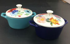 Pioneer Woman Celia Floral Mini Casserole Porcelain Set of 2