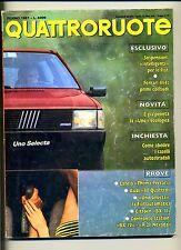 QUATTRORUOTE # Anno XXXII N.380 Giugno 1987 # Ed.Domus Rivista Mensile